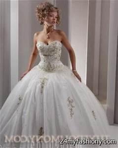 White And Gold Sweet 16 Dresses | Ejn Dress