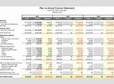 Budget Vs Actual Template budget template free