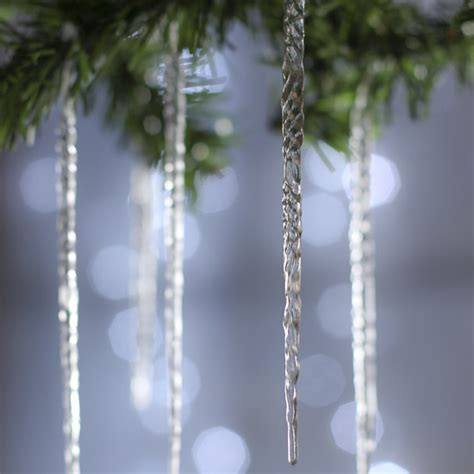 crystal clear acrylic icicle ornaments christmas