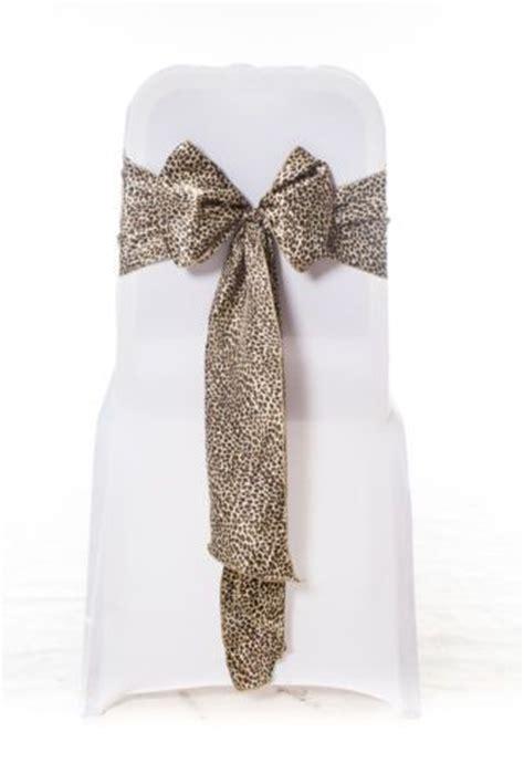 100 black gold leopard animal print satin chair cover