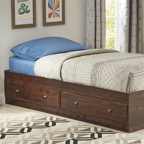 better homes and gardens leighton mates bed rustic cherry
