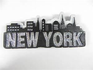New York Schriftzug : new york city magnet skyline manhattan schriftzug 3d poly glitter souvenir ebay ~ Frokenaadalensverden.com Haus und Dekorationen