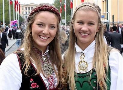 Norway Oslo Norwegians Norwegian Traditional Guy Woman
