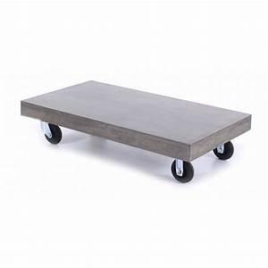 Table Basse Sur Roulette : table basse sur roulette ~ Teatrodelosmanantiales.com Idées de Décoration