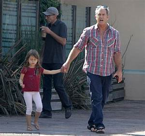 Mel Gibson, 58, takes adorable four-year-old daughter ...