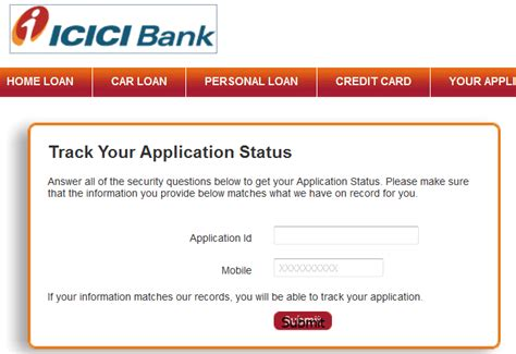 Check the status of the payment. Check ICICI Credit Card Application Status Online