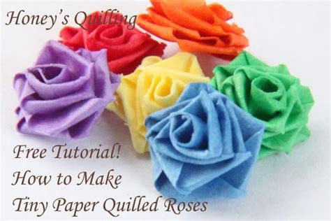 tiny paper quilled rose  tutorial