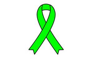 Green Cancer Ribbon Clip Art