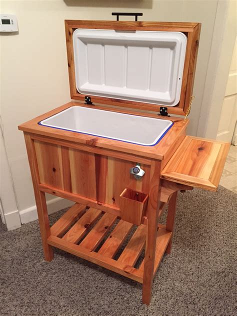 wooden cooler stand ana white