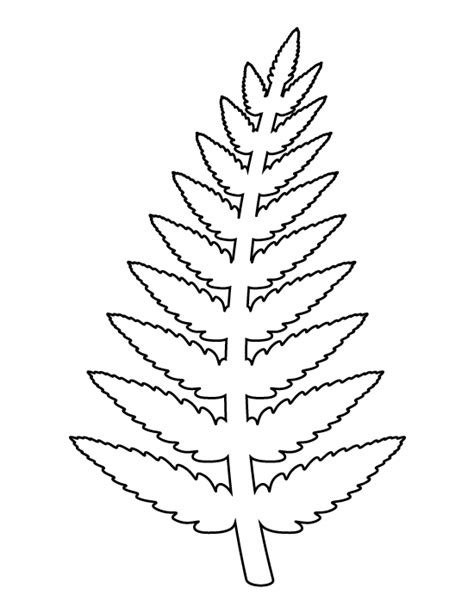 paper leaf template fern pattern use the printable outline for crafts creating stencils scrapbooking and more