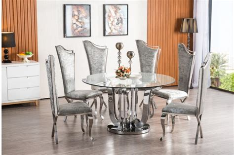 home furnishers violen piece chrome dining room