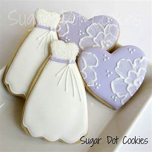 how to decorate a wedding dress cookie cutter sugar dot With wedding shower sugar cookies