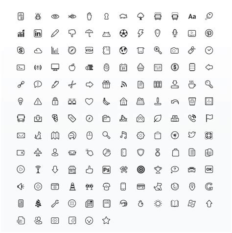 simplicity vector icon set web icon set