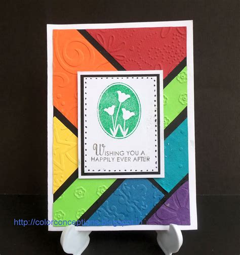 color conceptions dry embossing techniques
