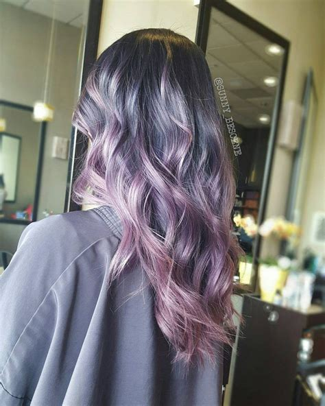 Ashy Purple To Pink Melt Hair Color Hairs Hair