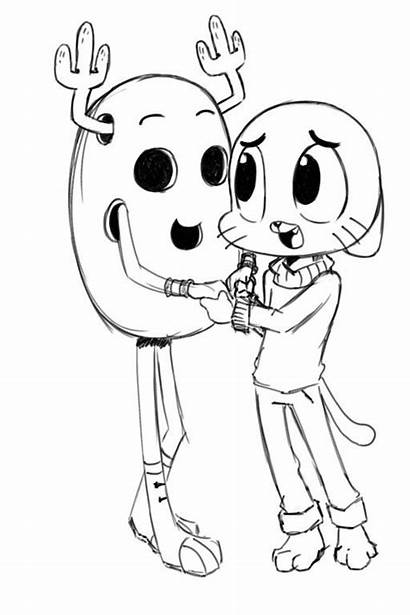 Gumball Coloring Amazing Pages Penny Cartoon Network