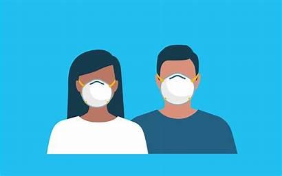 Face Mask Cartoon Masks Distribution Couple