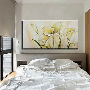 abstract acrylic calla lily kitchen large canvas wall art With kitchen colors with white cabinets with abstract outdoor metal wall art