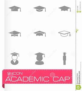 Vector Black Academic Cap Icon Set Stock Vector - Image ...