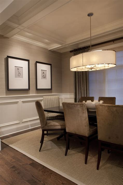 wainscoting ceiling ideas dining room traditional with painted wood window treatment painted wood