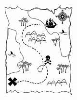 Map Printable Treasure Activity Pirate Coloring Fun Lilluna Clue sketch template
