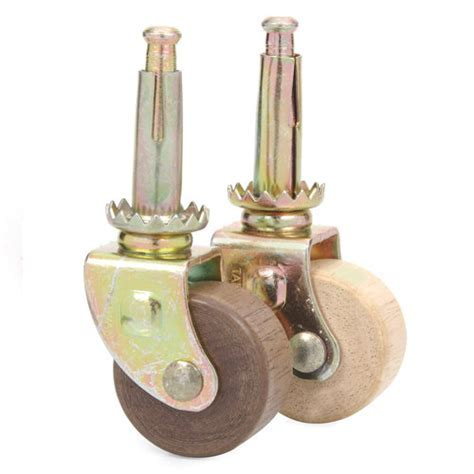 Wooden Wheel Steel Stem Caster   Van Dyke?s Restorers®