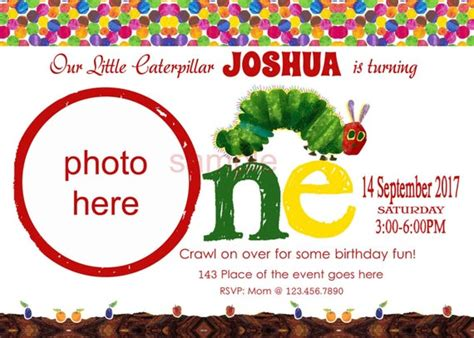 hungry caterpillar invitations hungry caterpillar