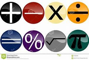 Set of Math Symbols stock vector. Image of orange ...