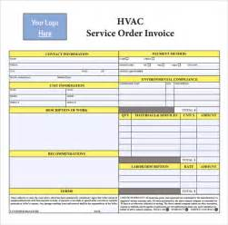 Hvac Free Estimate by Hvac Invoice Template 8 Documents In Pdf Word