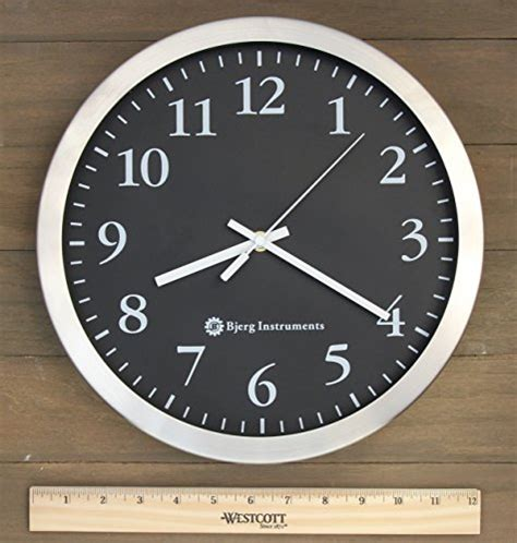 "Modern 12"" Stainless Silent Wall Clock With Non Ticking"