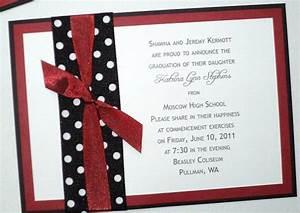 Printable Graduation Invitation Homemade High School Graduation Invitations
