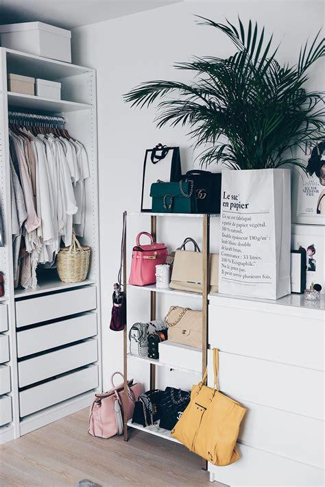 handtaschen aufbewahren ideen ikea hyllis hack meine diy taschen aufbewahrung im ankleideraum in 2019 ankleidezimmer