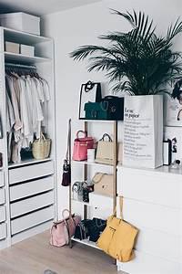 Taschen Platzsparend Aufbewahren : ikea hyllis hack meine diy taschen aufbewahrung im ankleideraum in 2019 c l o s e t ikea ~ Watch28wear.com Haus und Dekorationen