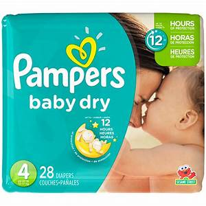 Pampers Baby Dry Pampers Baby Dry Diapers Size 4 28 Count ...