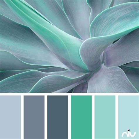 Color Schemes Aqua by Turquoise Color Palette Paint Inspiration Paint Colors