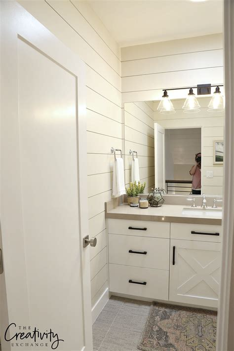 White Shiplap Bathroom by Painted Shiplap Accent Walls In Rich Colors