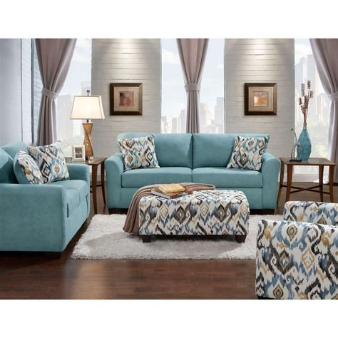 Livingroom Set by Carlisle 2 Teal Sofa And Loveseat Set 98513a2pc Teal