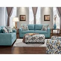 family room furniture Carlisle 2-Piece Teal Sofa and Loveseat Set-98513A2PC-TEAL ...