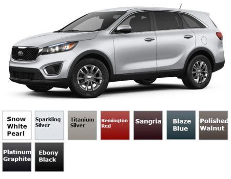 2017 kia sorento trims and color options