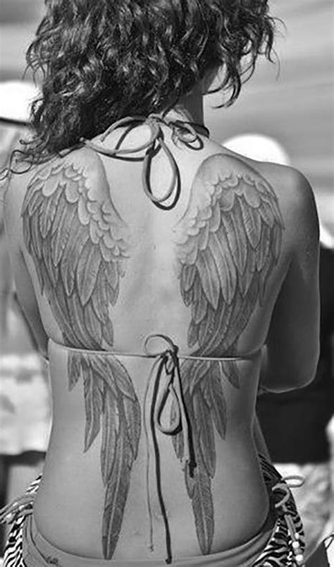 angel wings tattoo on back | Loving these angel wings