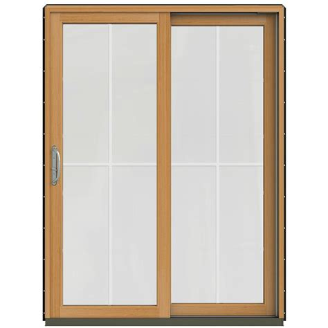 bronze sliding glass patio doors jeld wen 59 1 4 in x 79 1 2 in w 2500 chestnut bronze