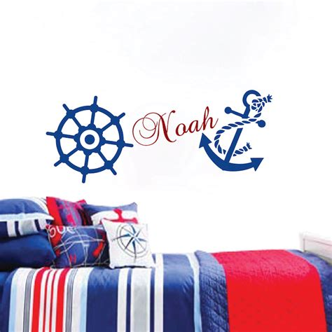 Look of plantation shutters at your window for anchor wall decor for nursery. Nautical Wall Decal _ Boys Room Wall Sticker _ Nursery Wall Decals Anchor Wall Decal _ Sailing ...
