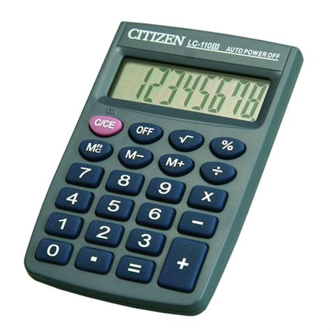 calculatrice graphique bureau en gros citizen calculatrice ultra compacte lc110n achat