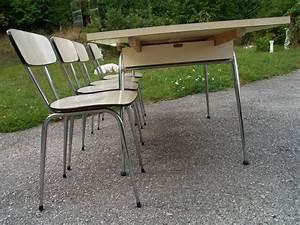 Retro Esstisch Stühle : essgruppe retro original 60er jahre ausziehbarer k chentisch st hle ~ Markanthonyermac.com Haus und Dekorationen