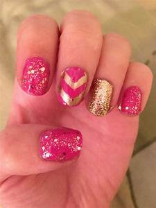 Michelle Madow: Pink and Gold Nail Art