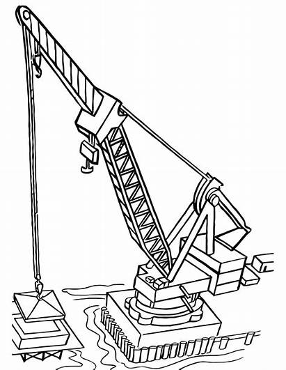 Construction Coloring Pages Machinery Vehicle
