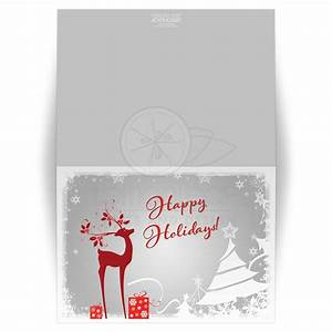 5x7 christmas or holiday card gray red deer gifts With kitchen colors with white cabinets with happy holidays stickers