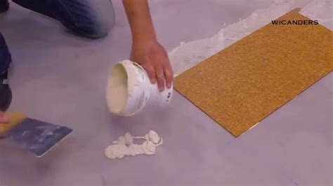 How to install Wicanders glue down cork flooring   YouTube