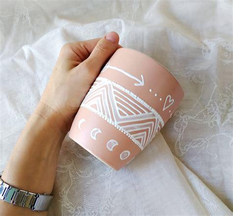 Hd canvas print stars in the night sky wall art moon painting. Boho girl blush mug, painted ceramic mug, pale peach art mug for her, arrows mug, moon mug ...