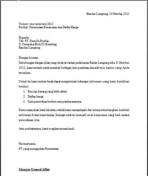 Contoh Surat Penawaran Barang Dalam Bentuk Block Style by Contoh Surat Penawaran Barang Elektronik Dalam Bentuk Semi